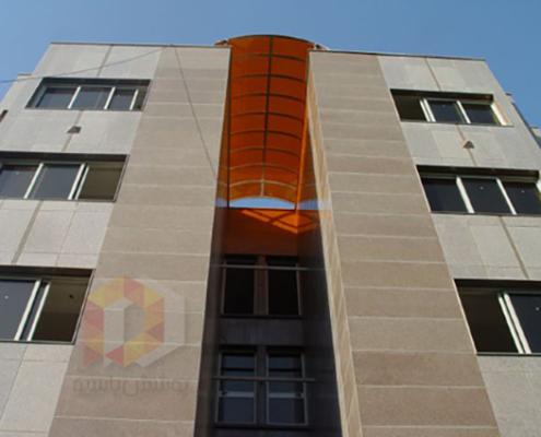 پوشش پاسیو از پشت بام با ورق اکریلیک